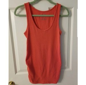 🌹Old Navy Coral orange red maternity tank top